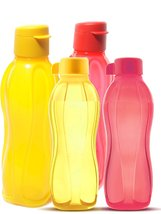 Tupperware Family Plastic Bottle Set, 4-Pieces, Multicolor - $1.693,41 MXN