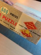 "Vintage 50s Warren Diamond Lock Picture Puzzle- #600 ""Lake Mead Marina""  image 6"