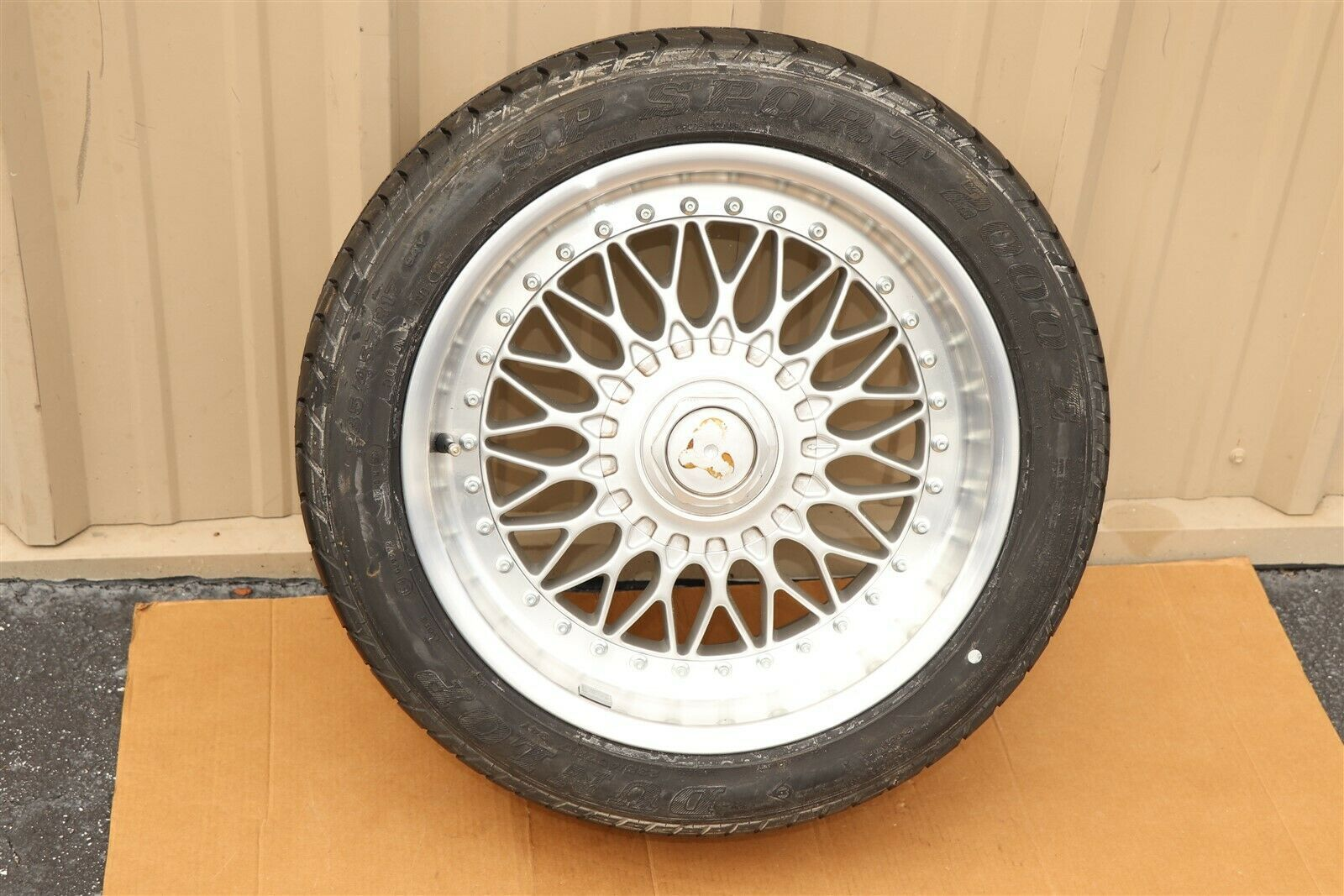 "BMW E39 540i 530i 525i 528i 535i 17"" Spare Wheel Rim Tire 2pc BBS Deep Dish ""NEW"
