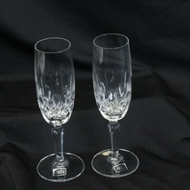 """Mikasa Sonnet Cut Crystal Fluted Champagne 7.5"""" Lot of 2 - $29.39"""