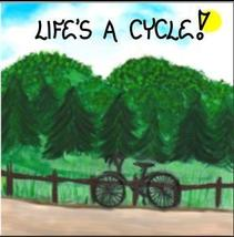 Cycling magnet - Bicycling saying, Bicycle silouette, riding, peddling, ... - $3.95