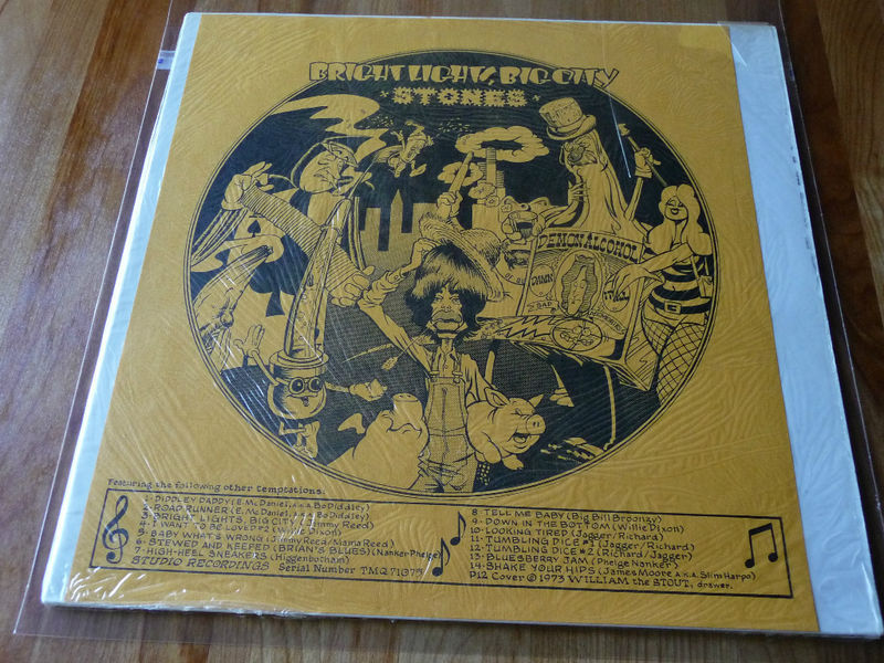 The Rolling Stones Bright Lights Big City LP 1973 William Stout Shrink Not Tmoq