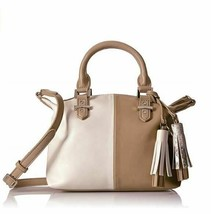 NWT Nine West Face Forward Satchel/Handbag Sandstone/Milk/Natural Multi   #091 - $36.00