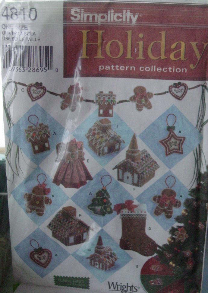 Pattern 4810 Christmas Ornaments & Tree Skirt