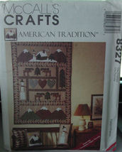 Pattern 8327 Wll Quilt and Pillows American Tra... - $4.99