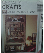 "Pattern 8327 Wall Quilt and Pillows ""American Tradition"" - $5.00"