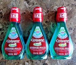 Lot 3 Colgate Total Advanced Health Mouthwash Fresh Mint Alcohol Free 13.5 Oz - $9.49