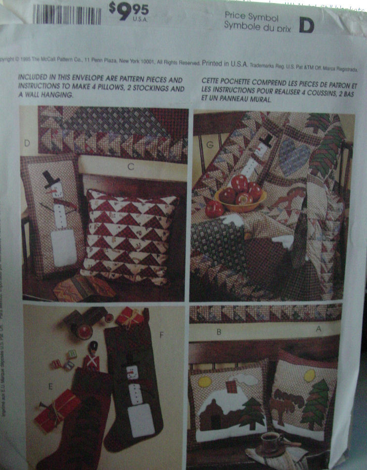 Pattern 8327 Wll Quilt and Pillows American Tradition