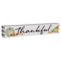 Harvest Decorative Sign Thankful 12x2x1.25 in. w - $6.99