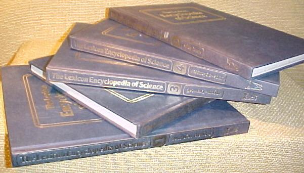 LEXICON ENCYCLOPEDIA OF SCIENCE,5 VOL.SET,1987 CHEMISTRY,GEOLOGY,SOLAR,GEOMETRY