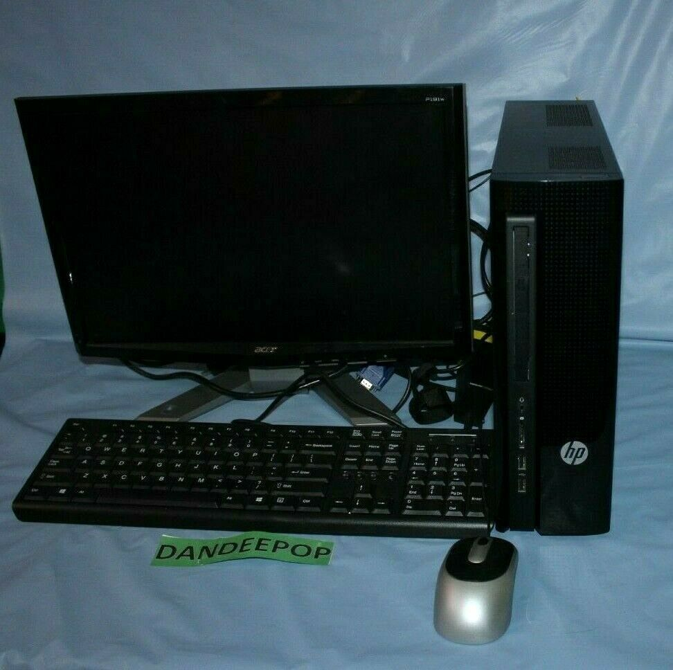 Primary image for HP Slimline 450-a120 (500GB, AMD E Series, 1.4GHz, 4GB) PC Desktop - M9Z80AA#ABA