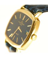 18k SOLID GOLD Baume Mercier MENS Watch Leather Automatic Blue Enamel Di... - $1,847.93