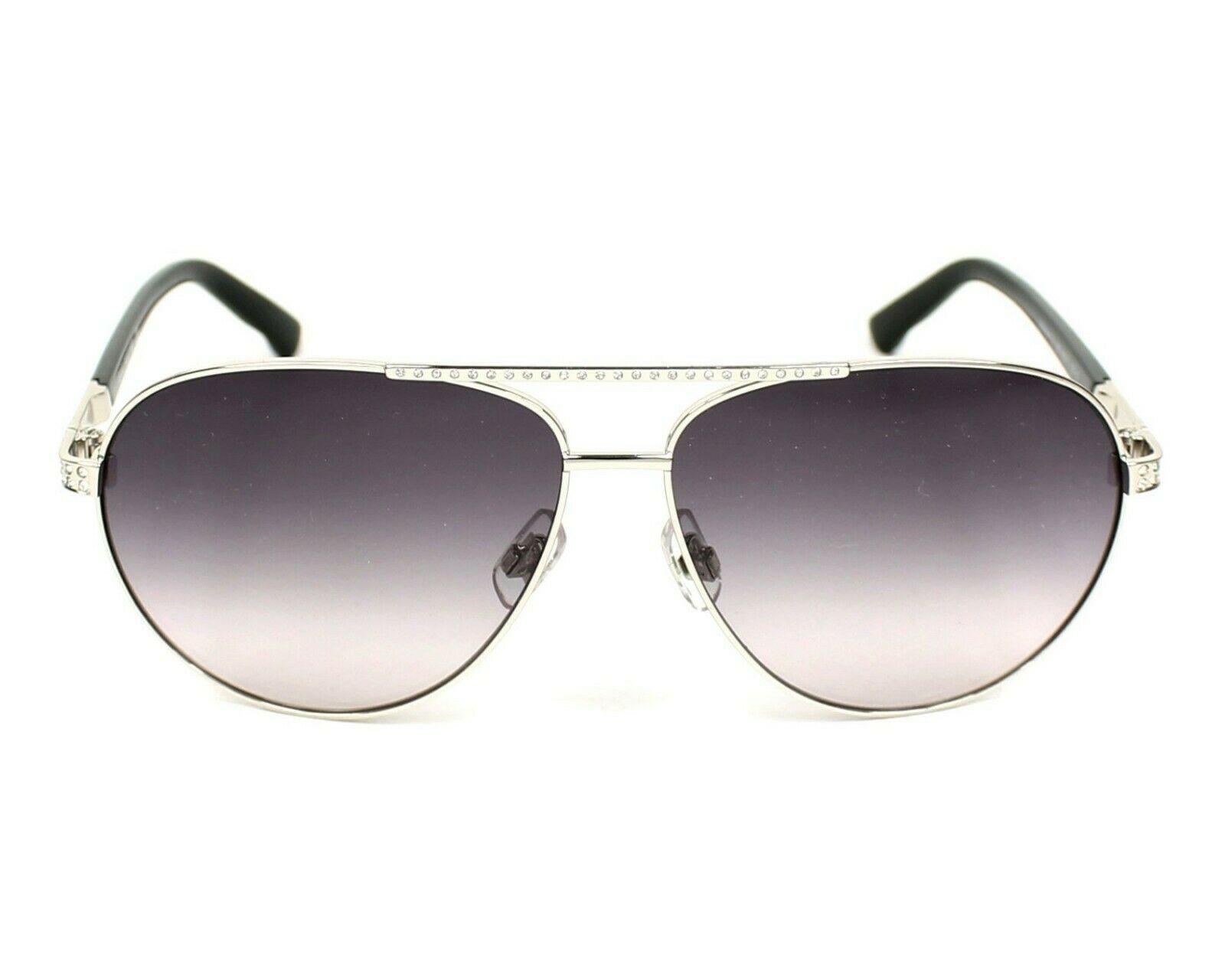 Swarovski SW78 16B Glänzend Palladium Farbverlauf Grau Linse Damen Sonnenbrille