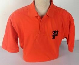 Polo Ralph Lauren Gothic P Shirt Mens XLT Short Sleeve Orange Navy - $74.78