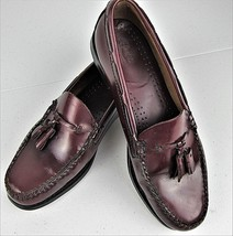GH Bass Weejuns Loafers Tassel Mens Shoe Size 9.5 D Burgundy Casual Formal  - $22.46