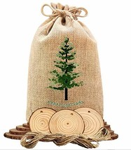 "Natural Wood Slices 33pcs. 2.25"" With 16ft of Twine; Pre-Drilled Holes; ... - $12.27"