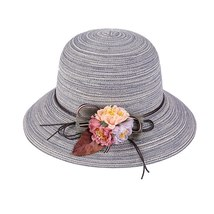 K Summer Floppy Straw Hat Women Ladies Wide Brim Beach Hat Sun Foldable Cap Fema image 3