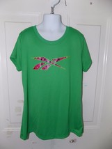 Reebok Green Short Sleeve Shirt Size L (12/14) Girl's EUC - $15.20