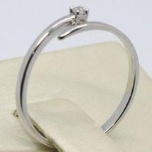 Anillo Oro Blanco 750 18K, Solitario, Serpiente, vía con Diamante Quilates 0.03 image 3