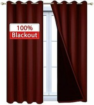 Yakamok 100% Blackout Curtains with Black Liners, Thermal Insulated 2-La... - $77.49+