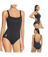 Polo Ralph Lauren Black White Pony Martinique 1 One Piece Swimsuit Black... - $65.00