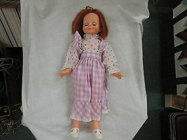 Vintage Ideal Beautiful Crissy Doll in Cute purple plaid dress Circa 1970 - $49.99