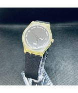 Swatch No Name International Day-date black and clear quartz new battery - $33.00