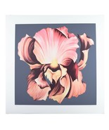 """Pink Iris on Grey Background"" by Lowell Nesbitt Signed Silkscreen LE 17... - $470.74"