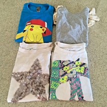 Girl's Crewcuts Lot Of 4 Short Sleeve Tees (6-7) - $23.38