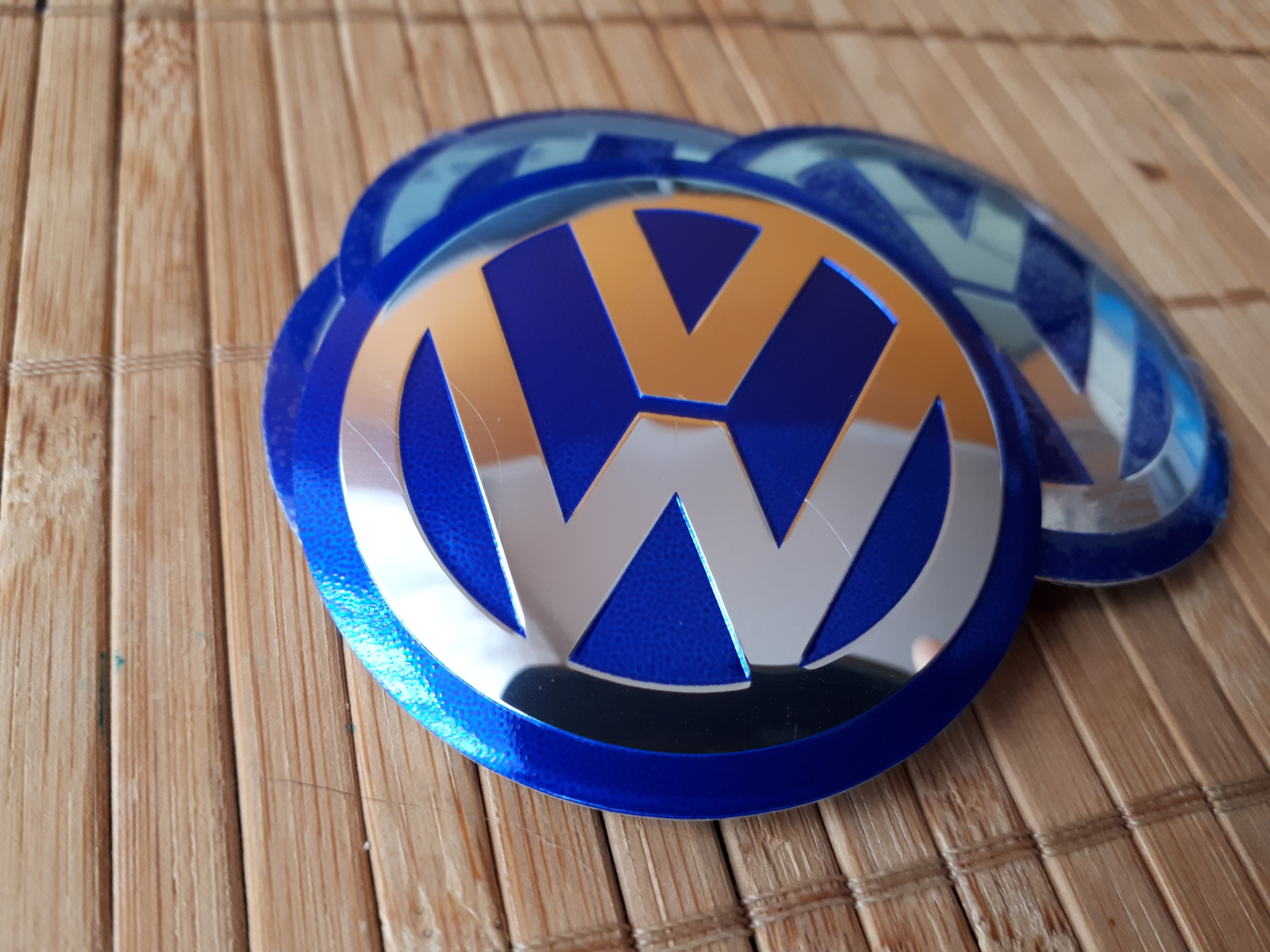 Wheel Center Blue Stickers 56mm For 60mm Cap And 39 Similar
