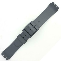Gray Silicone Generic Swatch® Watch Band 14mm Wide and Fits 12mm Notched... - $8.86