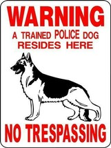 1706 GERMAN SHEPHERD DOG SIGN,9 X 12 ALUMINUM SIGN,SECURITY,WARNING, - $14.49