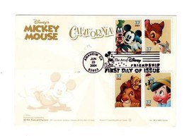 OVERSIZED POSTCARD-FDC DISNEY ART OF FRIENDSHIP STAMPS-CALIFORNIA CARD  ... - $9.80