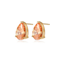 Glamorousky Fashion and Simple Plated Gold Water Drop-shaped Stud Earrin... - $27.98