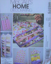 Pattern 6375 - Gament Bags & Organizers for Purses, Shoes, Jewelry, Gift Wrap  - $5.99