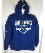 Kansas City Royals 2014 World Series Fall Classic Hoodie Men's Large Blue - $33.94