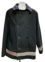 Vintage Ralph Lauren Polo Jeans Company Pea Coat Military Surplus L Navy... - $183.99