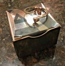 """Vintage Avon Initial """"N"""" 925 Sterling Silver Ring w Gemstones Adjustable image 2"""