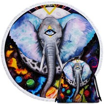 The Three Eyed Elephant Beach Towel - $12.32+