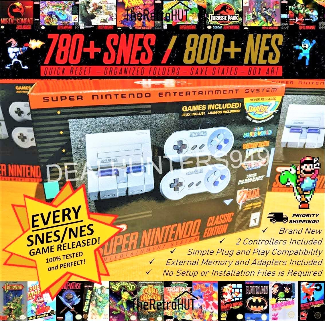 Primary image for SNES Modded (Entire Snes & Nes Library) Super Nintendo Classic Retro Console New