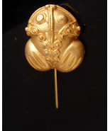 Kiss a FROG Stickpin - Vintage gold frogger - whimsical toad - mens gift... - $85.00