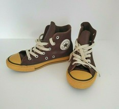 Converse Shoe All Star Youth Size 1 Brown Leather Hi Top Basketball  - $29.69