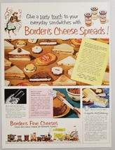 1952 Print Ad Borden's Cheese Spreads Elsie the Cow Character at Fair - $13.35
