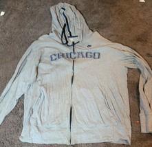 Nike Sportswaer Men's Chicago Cubs Grey Hoodie Sweatshirt Large - $25.95