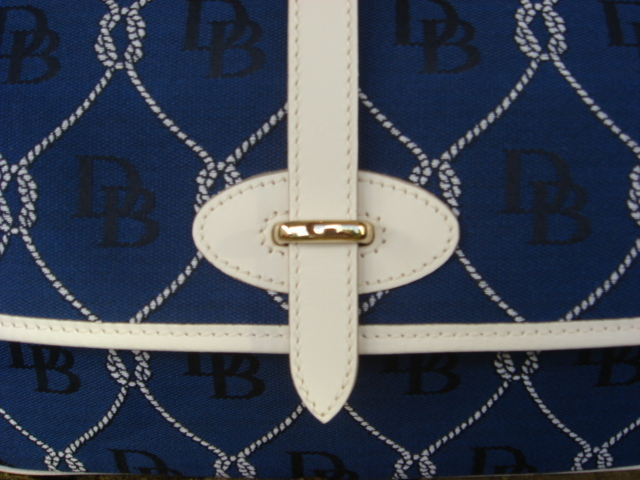 Dooney & Bourke D & B Large Blue Flap RP834