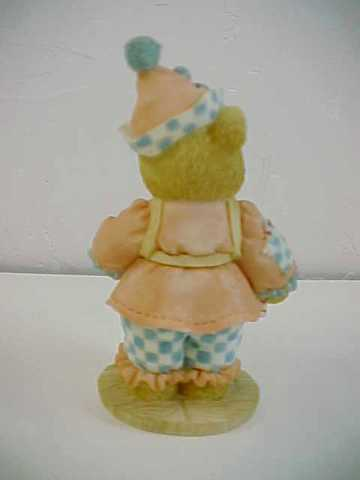 Cherished Teddies Shelby the Circus Clown Selling Popcorn