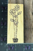 Great Impressions Three Tall Flowers Sunflowers Rubber Stamp G236 Wood #... - $4.46