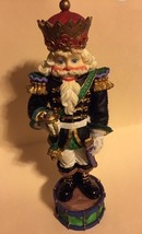 "Hand Painted 10"" Tall Resin Nutcracker Figurine - $25.00"