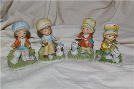 Homco 4 Boy & Girl with Big Hats 1430 Home Interiors - $9.99