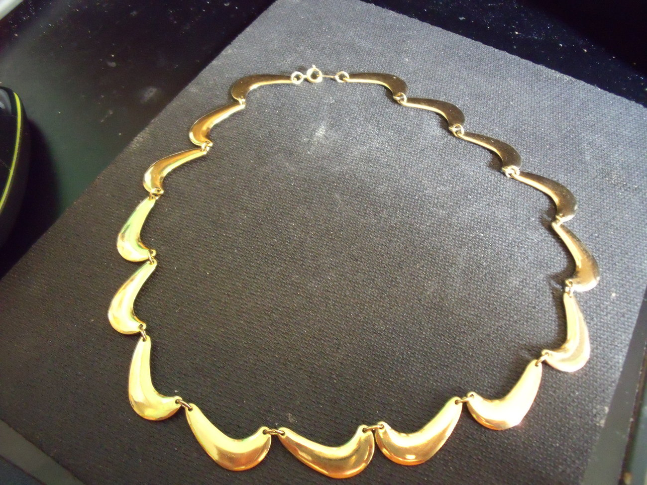 Goldtone Muliple Links Necklace